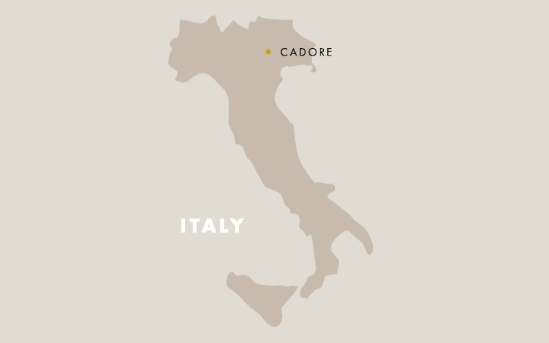 Cadore italy map