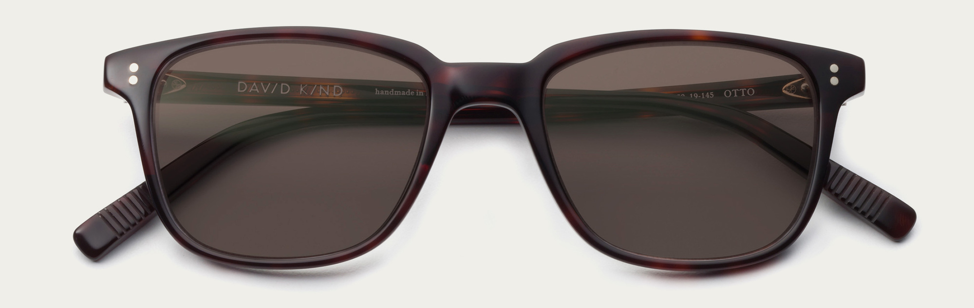 Large 2x otto in red havana brown lens