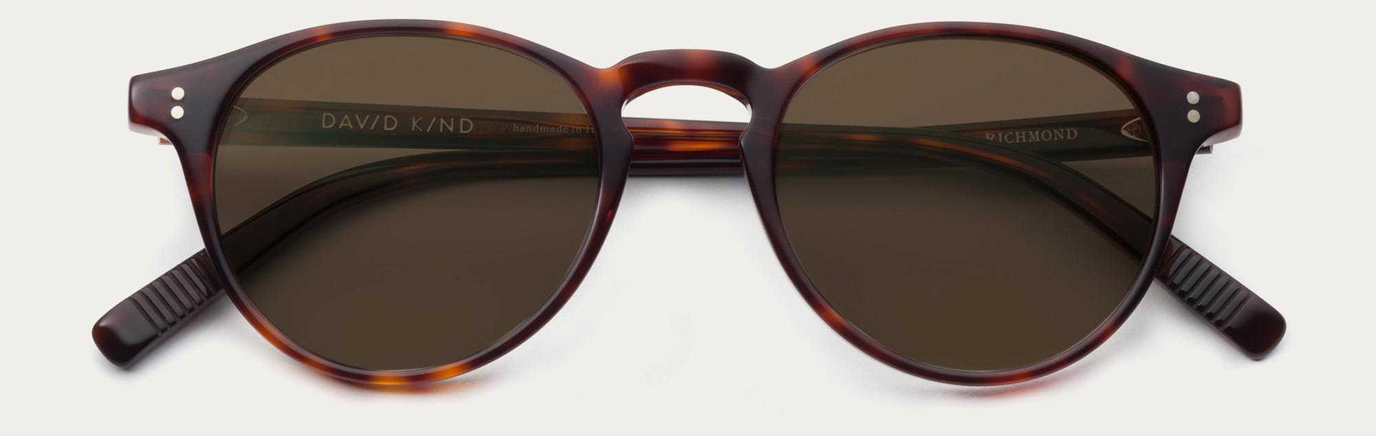 Large 2x richmond in red havana sun brown lens